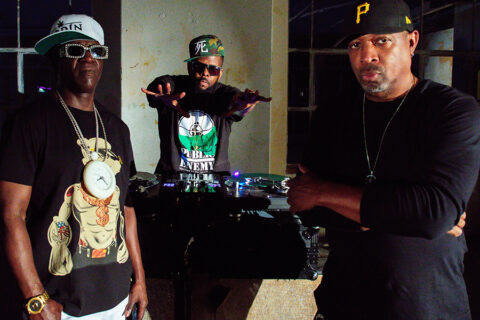 This is a photo of the rap group Public Enemy